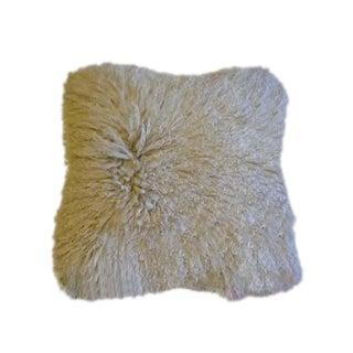 White Mongolian Lamb Pillow, China, Contemporary