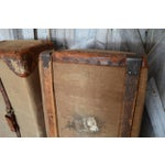 Image of European Style Canvas & Leather Trunk