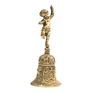 Decorative Brass Cherub Service Desk Hand Bell