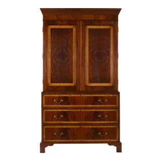 Antique English-style Linen Cabinet