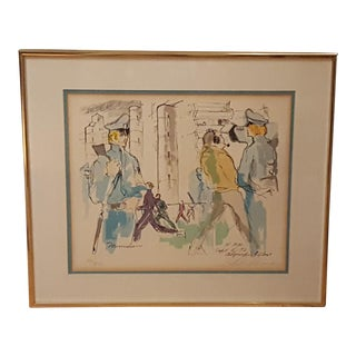 """September 5th, 5PM"" Hand Pulled Serigraph Print by LeRoy Neiman"