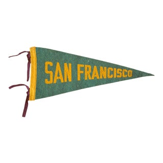 1940s San Francisco CA Felt Flag