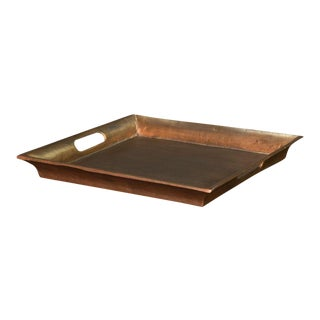 Sarreid Ltd Antiqued Aluminum Tray