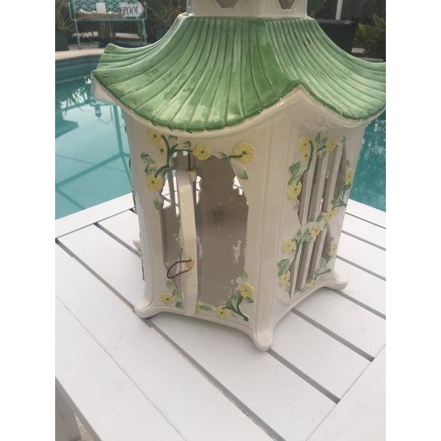 Italian Ceramic Pagoda Birdhouse - Image 4 of 8