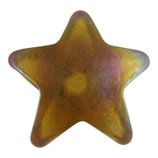 Iridescent Art Glass Star Paperweight