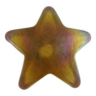 Iridescent Art Glass Star Paperweight