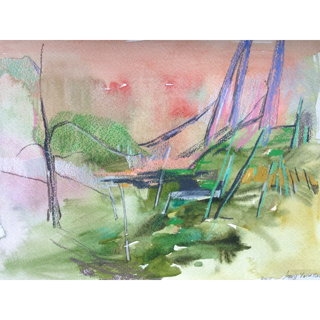 Forest Floor Watercolor & Pencil Drawing - Image 1 of 2