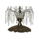 Image of Gilded Metal & Leaded Crystal Table Lamp