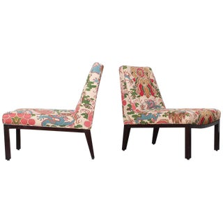 Pair of Slipper Chairs by Edward Wormley for Dunbar