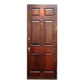Six-Panel Walnut Door