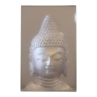 Geometric Resin Sculpture, Buddha Wall Relief