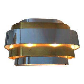 Paul Evans Lightolier Chrome & Brass Art Deco Sconce