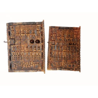 African Dogon Granary Doors From Mali - Set of 2
