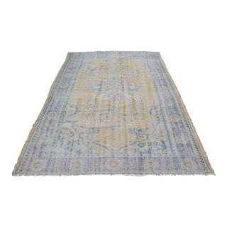 Decorative Handmade Turkish Oushak Carpet - 5′8″ × 9′3″