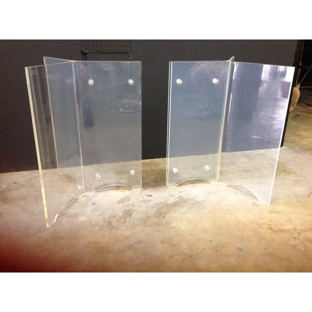 Vintage Lucite Table Bases - A Pair - Image 4 of 8