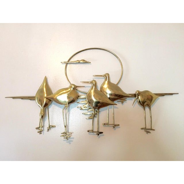 Mid-Century Sandpiper Wall Sculpture - Image 2 of 6