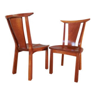 Thos. Moser Cherry Edo Dining Chairs - A Pair