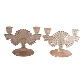 Vintage Art Deco Fostoria Glass Candelabra