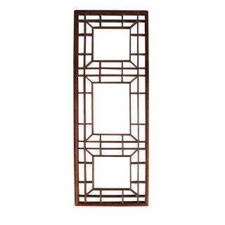 Vintage Oriental Wood Wall Panel