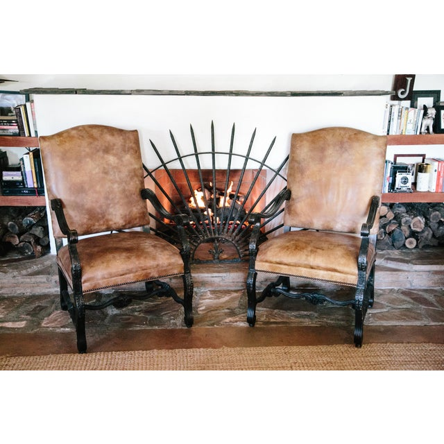 Stanford Furniture Leather Chairs - A Pair - Image 2 of 5