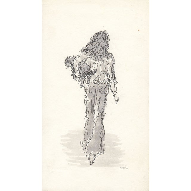 Image of Ink & Watercolor Drawing by Appel