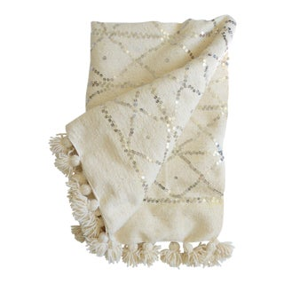 Traditional Moroccan Wool Wedding Blanket