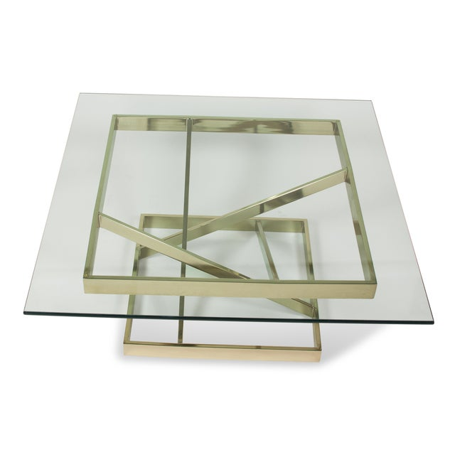 1980s Intersecting Angles Coffee Table - Image 3 of 9