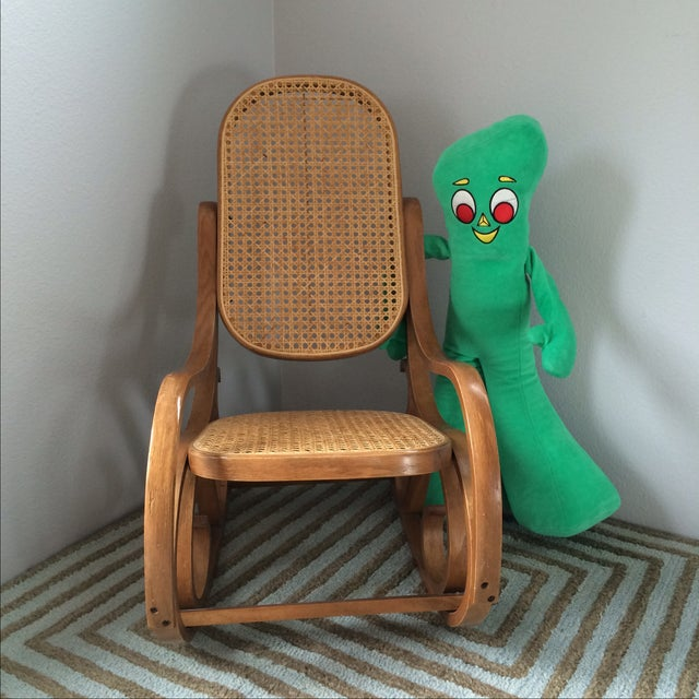 Vintage Bentwood & Cane Child's Rocking Chair - Image 10 of 10