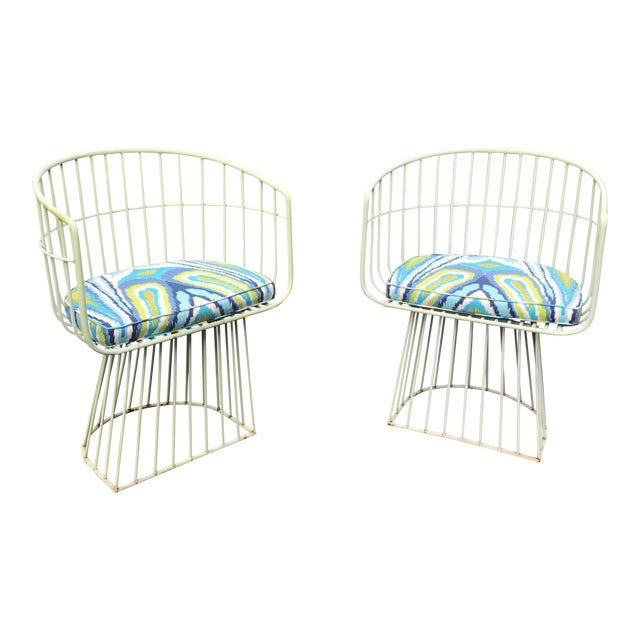 Mid-Century Indoor Outdoor Trina Turk Chairs - a Pair - Image 1 of 9