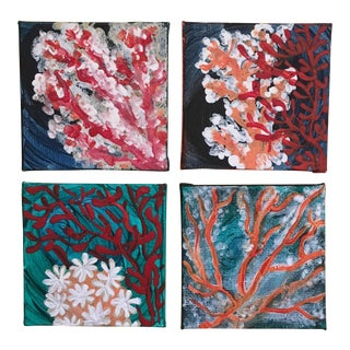 Coral Reef Original Mini Paintings - Set of 4