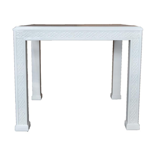 Large Chippendale-Style Fretwork Side Table - Image 2 of 5