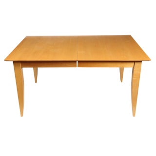 Scandinavian Maple Extension Dining Table