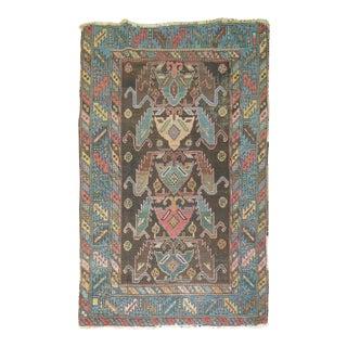 Vintage Caucasian Rug - 3′8″ × 5′