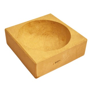 Japanese Sculptural Minimalist Wood Bowl