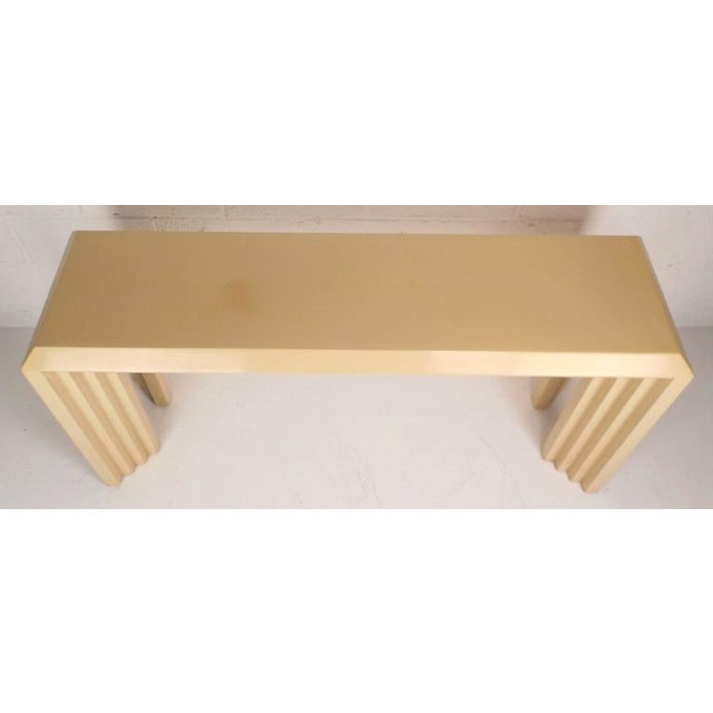 Mid-Century Modern Lacquered Console Table by Lane Furniture Company - Image 4 of 9