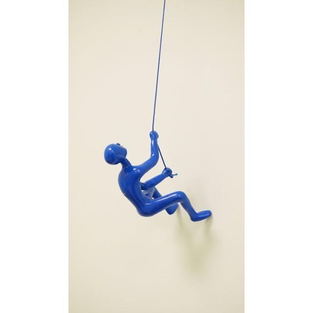 Climbing Man Wall Art Sculpture - Blue - Image 2 of 3