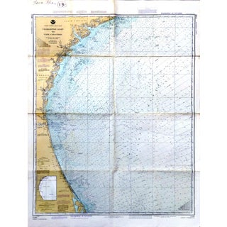 Vintage Charleston-Cape Canaveral Nautical Chart