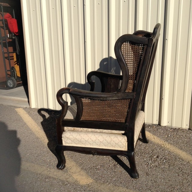 Antique Cane Louis Xv Wingback Chair Chairish
