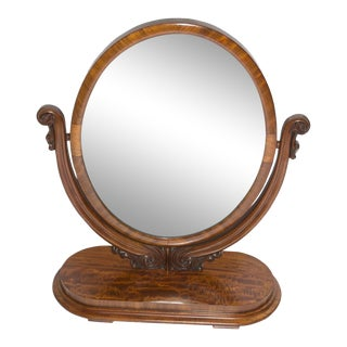 Antique Oval Table Mirror