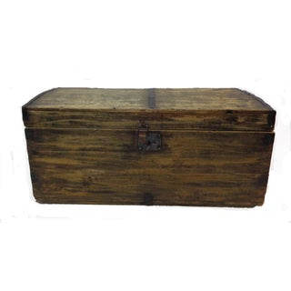 Antique Primitive Coach Trunk