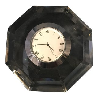 Diamond Cut Crystal Table Clock