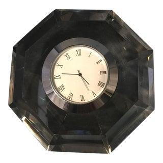 Diamond Cut Crystal Table Clock