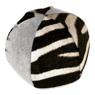 Handcrafted Zebra Hide Ball