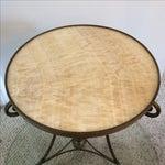 Image of Gueridon Vintage Neoclassical Bronze & Onyx Table