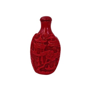 Chineses Crimson Snuff Bottle