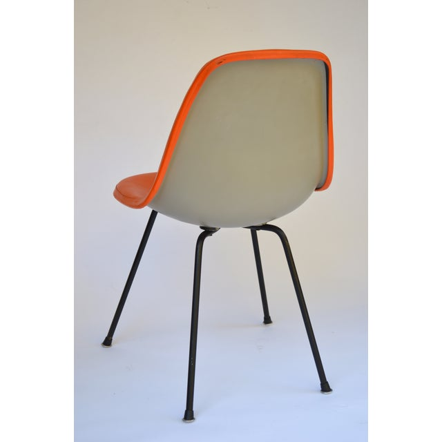 Herman Miller Eames Orange Vinyl Side Shell Chair - Image 6 of 9