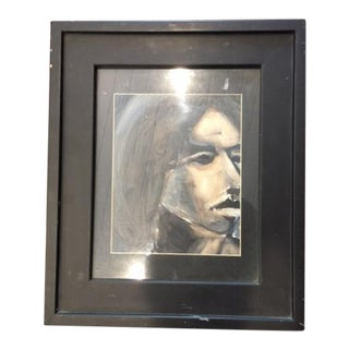 Abstract Portrait of Woman Framed Painting