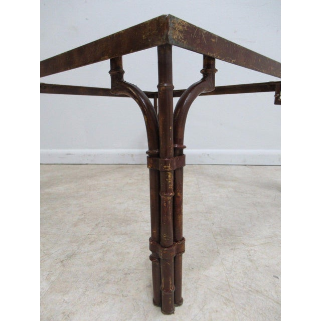 Image of Vintage French Regency Faux Bamboo Metal Table Base
