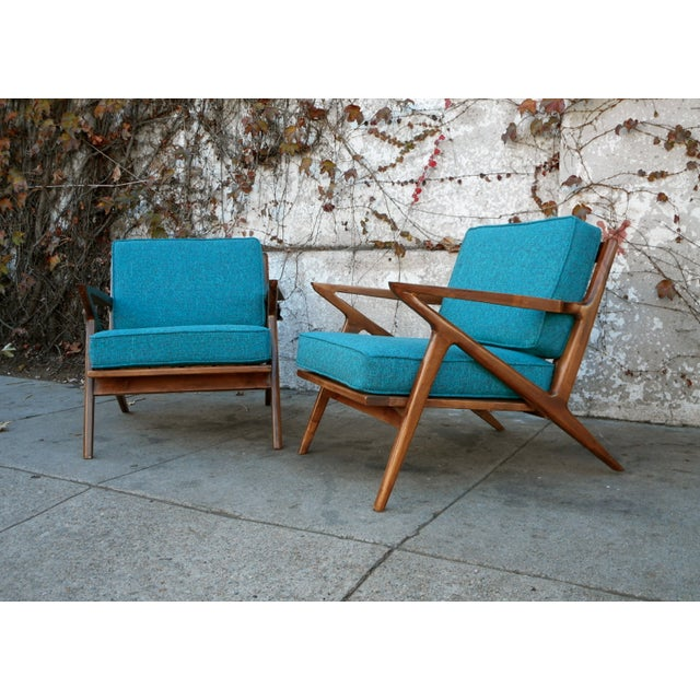 Image of Mid-Century Style Z Chairs - A Pair