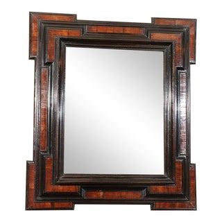 Dutch Baroque Period Walnut and Ebonized Mirror Frame